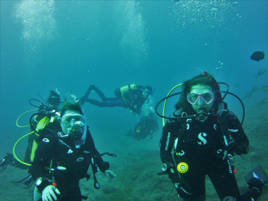 Deep diving Tenerife
